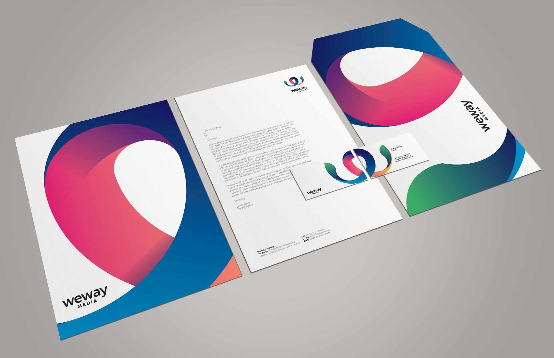 Weway Media Corporate Letterhead Design Letterhead Examples Name Card Design