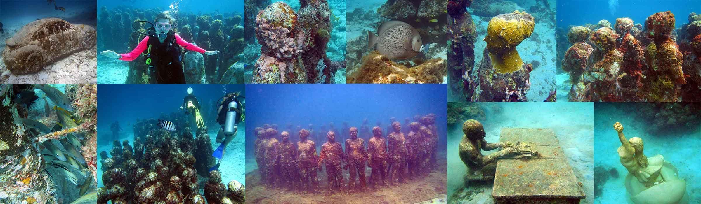 Undersea Attractions: Underwater Sculpture Parks in Grenada and Mexico