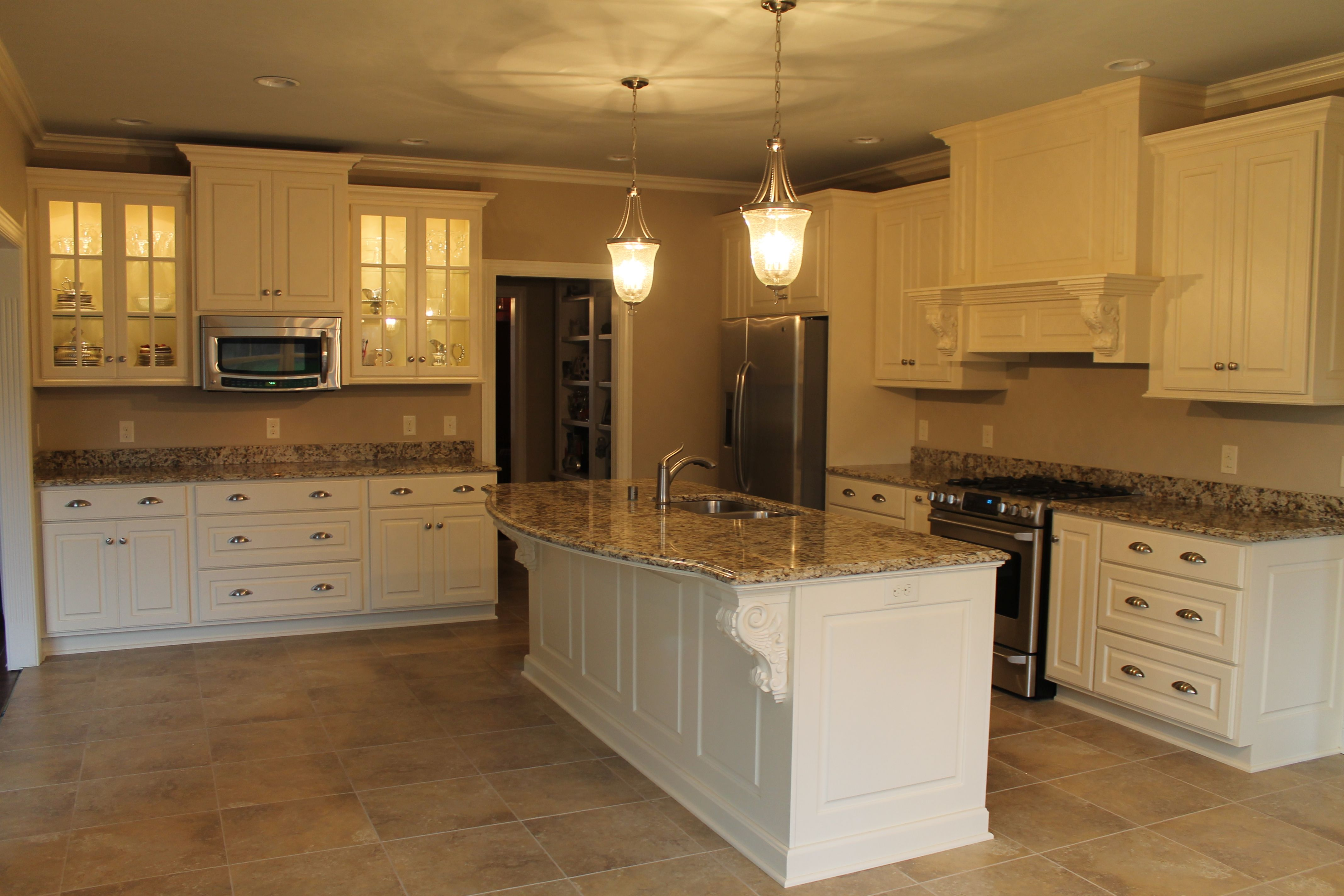 Gorgeous Signature Custom Cabinets Painted In Queen Anne S Lace Kitchen Remodel Painting Cabinets Custom Cabinets
