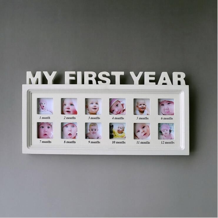 Decorative First Year Photo Frame For Babies Trendieonline Baby Photo Frames Baby Picture Frames Baby Frame