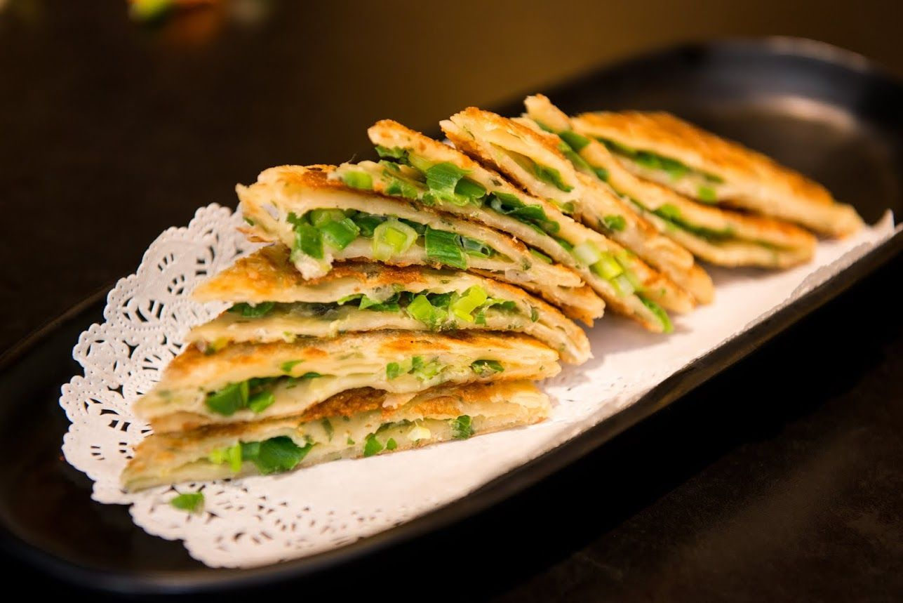 Our Scallion Pancakes Have Been Named The Best In The City By Google Yelp Foursquare Users Chef Han Uses A S Best Chinese Food Chinese Dishes Recipes Food
