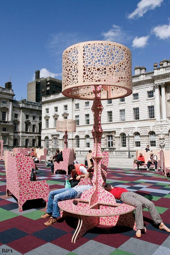 Somerset House Exhibition design, Urban furniture