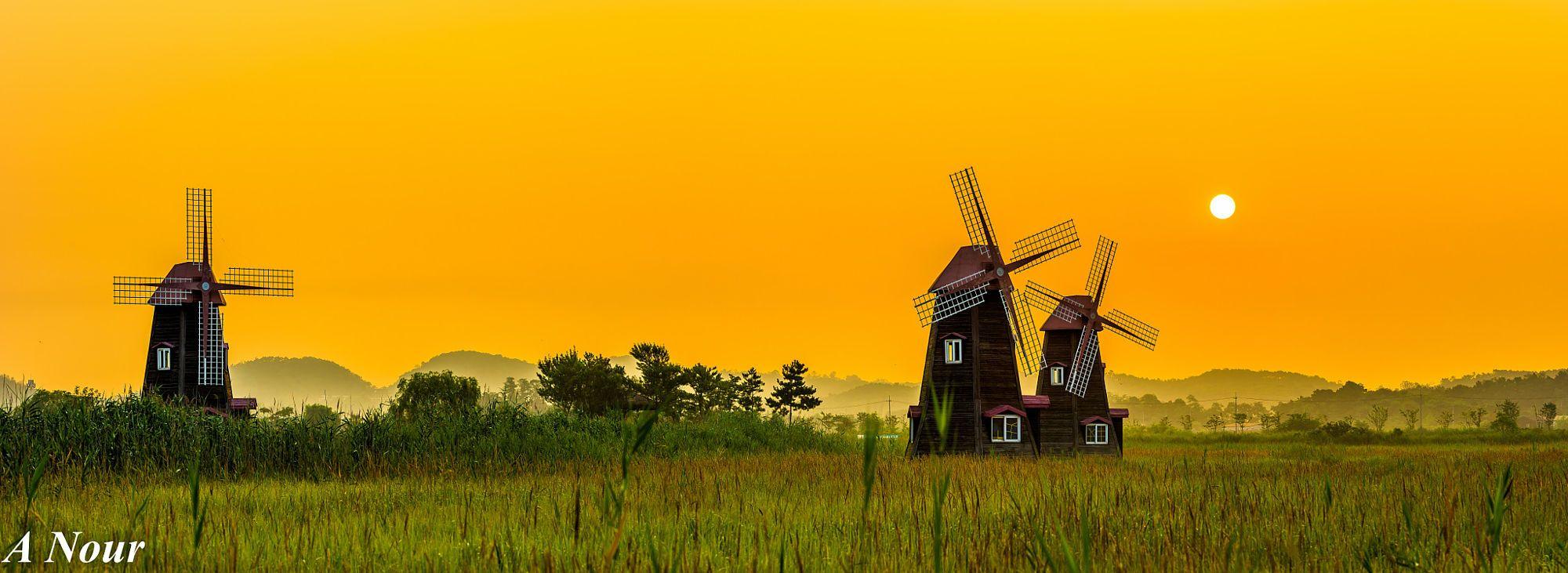 Sorae Ecology Park Wind Mills