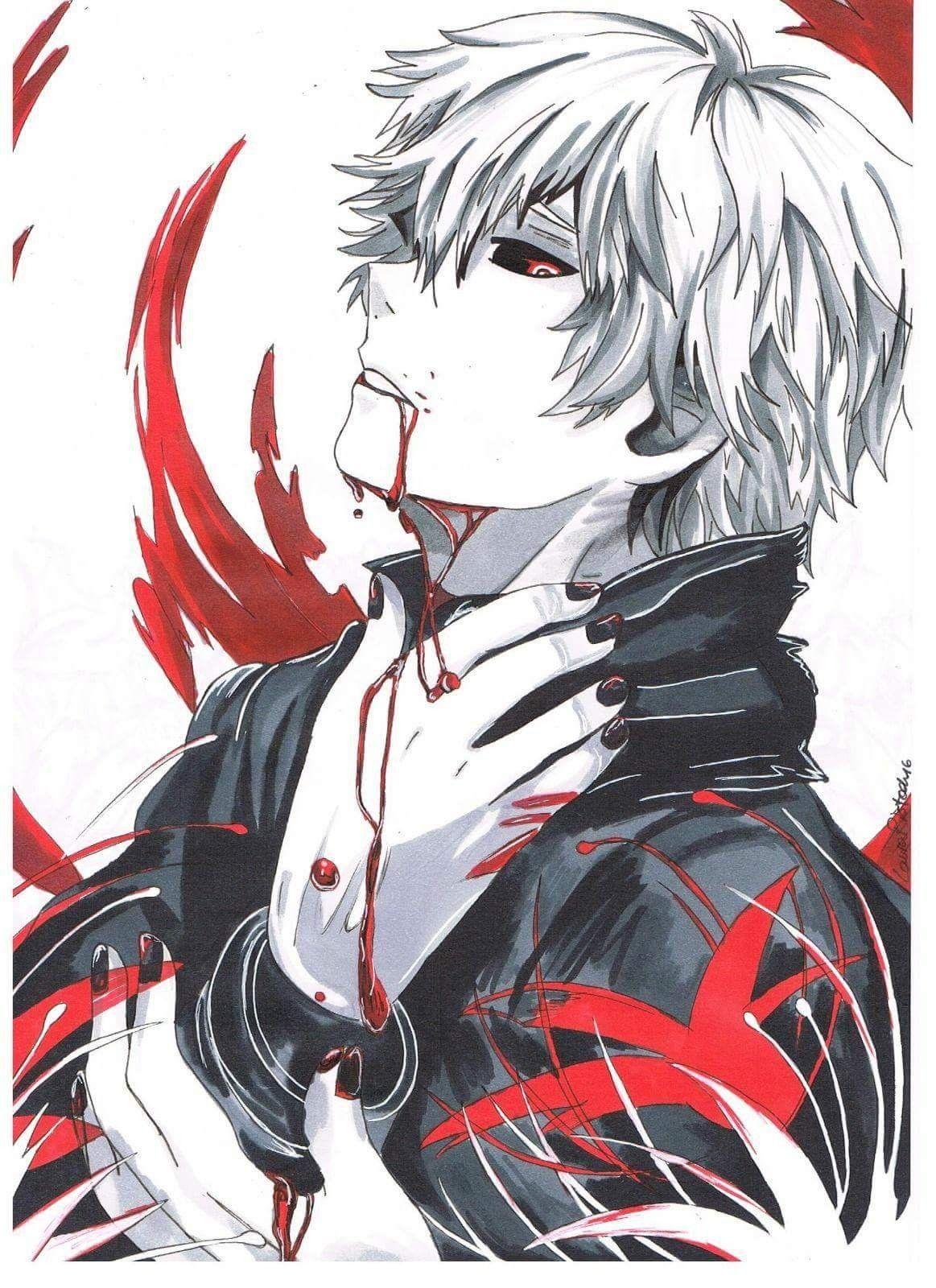 Pin de Frances Bautista em Anime/Manga Ghoul tóquio