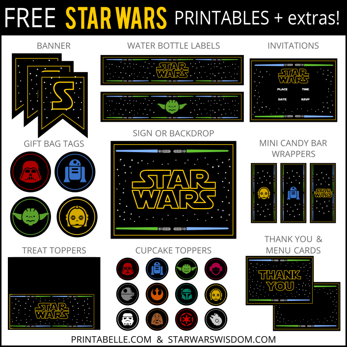 star wars printables | star wars party, party printables and birthdays, Birthday invitations