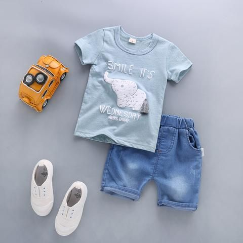 679dad4ac BibiCola Summer Baby Boy Clothes Sets Newborn Baby Cotton T-shirt ...