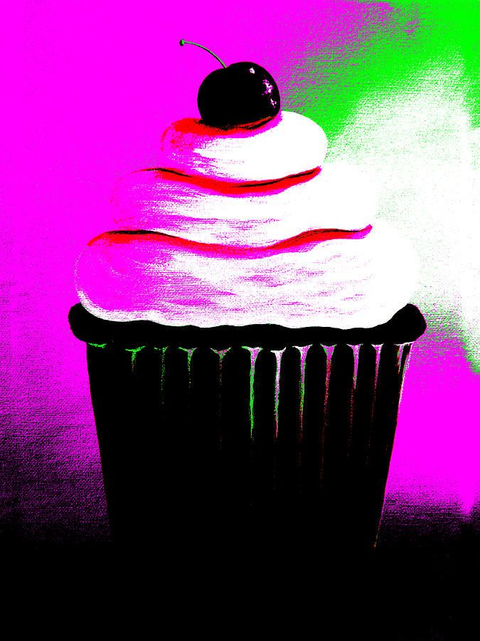 Abstract Cupcakes By Shawna Erback Painting