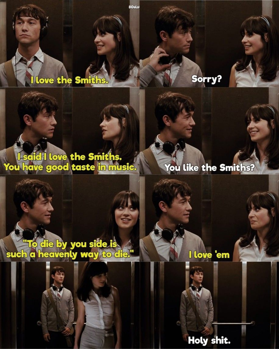 500 Days Of Summer Really Good Movies Iconic Movies Film Quotes