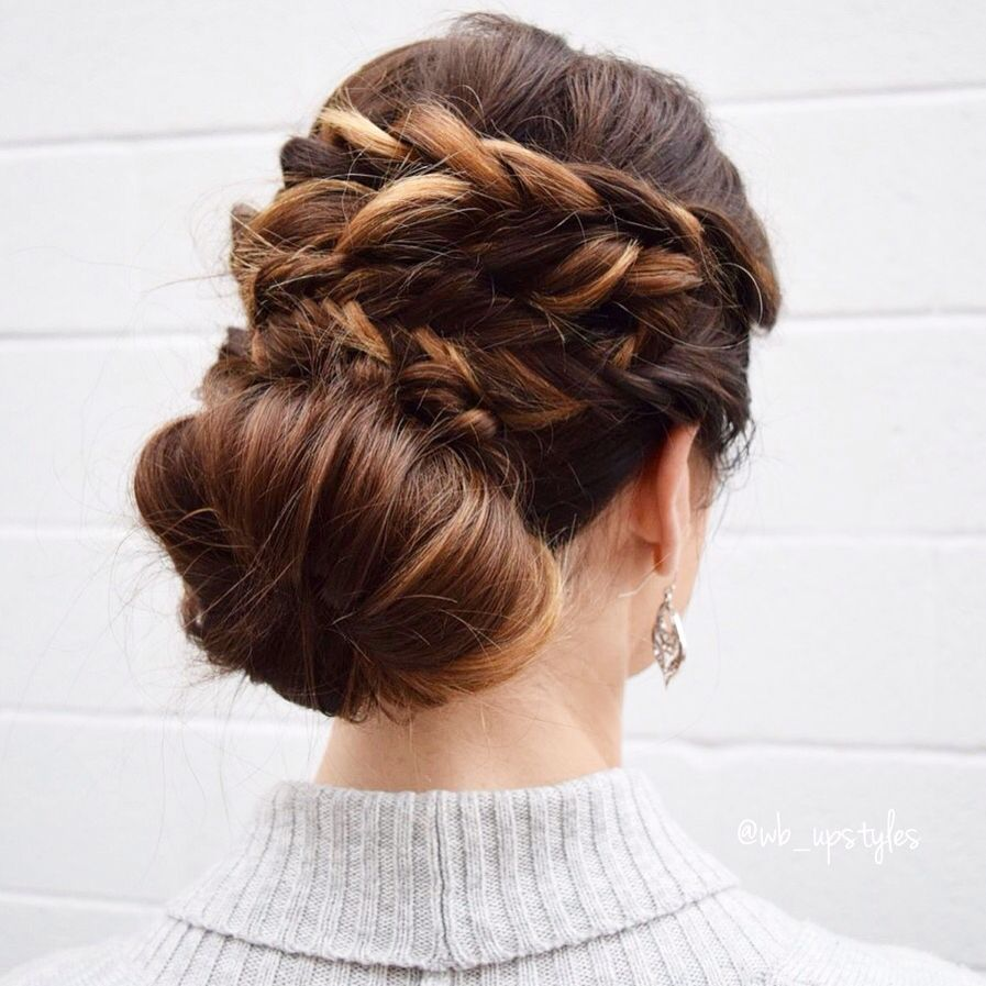 braids and a low bun. bridal hair ideas! #wb_upstyles | wedding