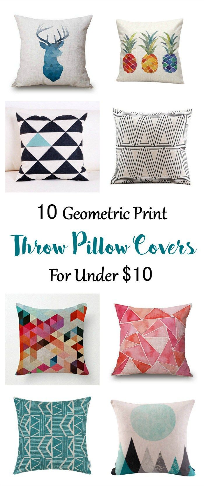 10 Geometric Print Pillow Covers For Under 10 A Pretty Fix Throw Pillows Pillow Covers Pillows