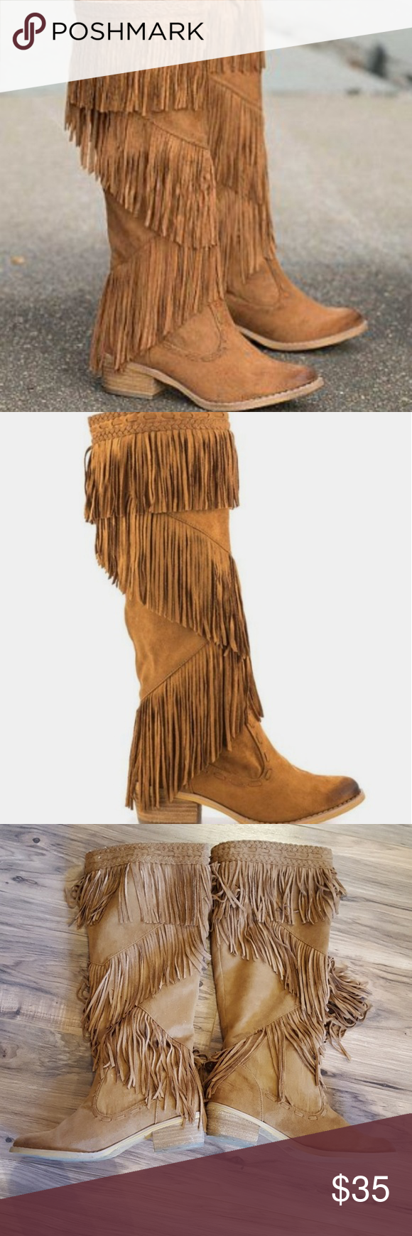 Not Rated Fringe Boots Fringe Boots Boots Not Rated Shoes