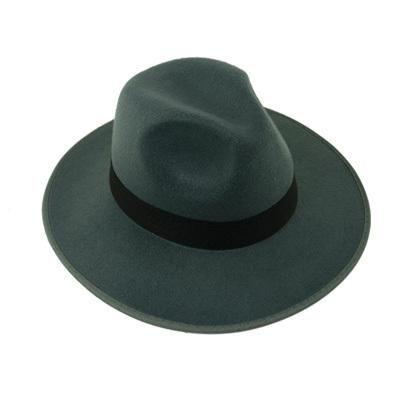 2edaa7635b616 Classical Wide Brim Felt Wool Fedora Hats