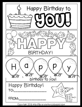 Classroom Freebies Too Printable Birthday Bookmarks To Color