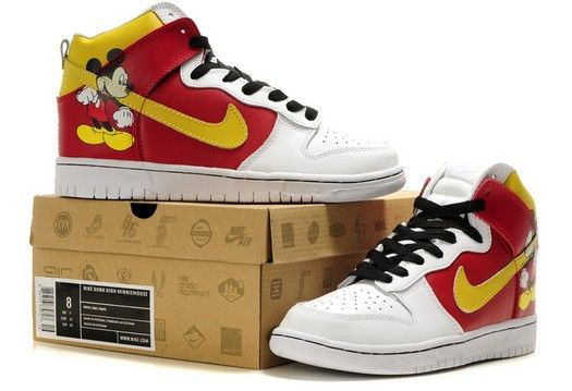 promo code 30d3e 1778f Nice Mickey Mouse Shoes, Cartoon Shoes, Cartoon Fashion, Nike Dunks, Nike  Air