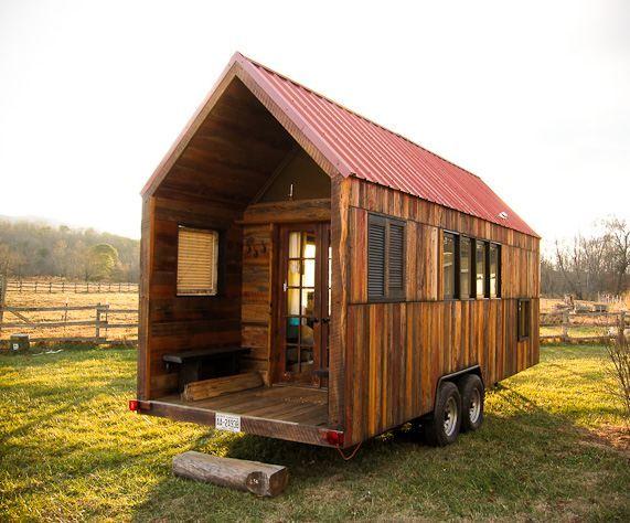 Maison en bois roulante aaron maret maisons roulottes caravanes camions maison bois - Construire maisonnette en bois ...