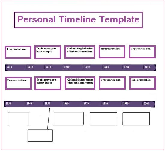 Personal Timeline Template 4+ Free Printable PDF, Excel  Word - timeline spreadsheet template
