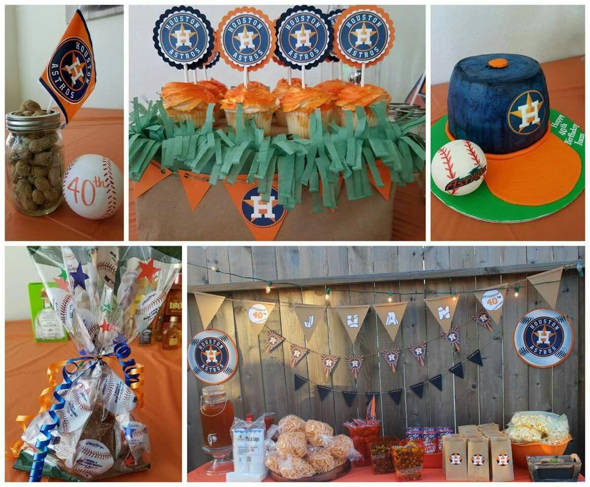 Baby Shower Decorations Houston ~ Houston astros theme cupcakes cake banner centerpieces