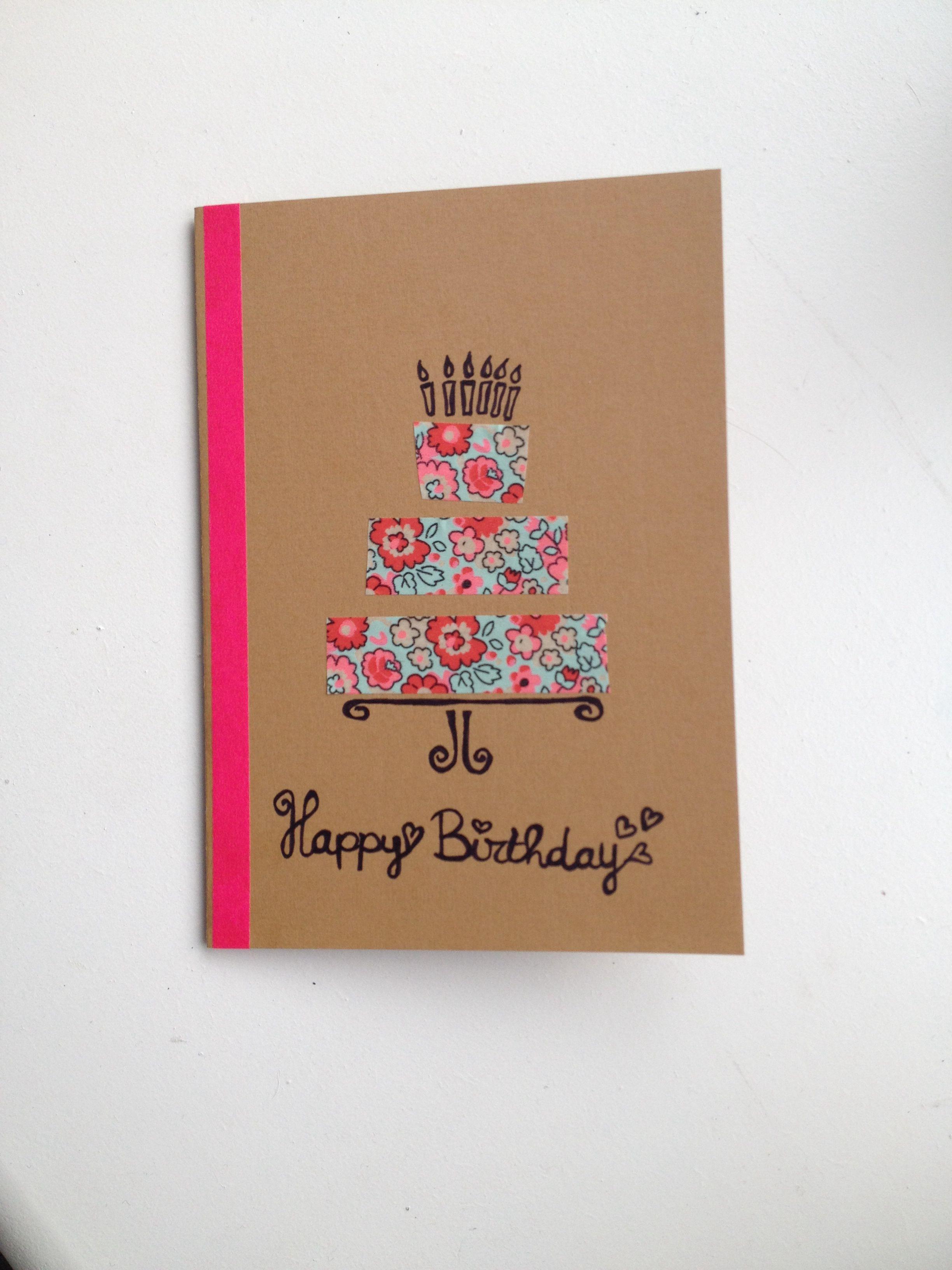 Birthday Card Home Made Celebrations Pinterest Birthdays
