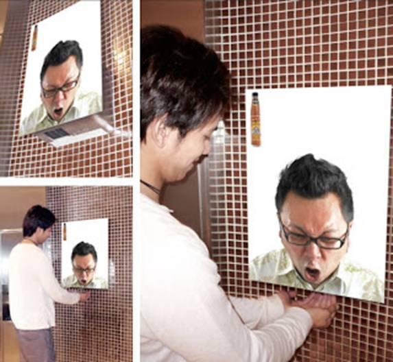 GENIAL!  Campanha para promover um molho picante da Tailândia. hahaha