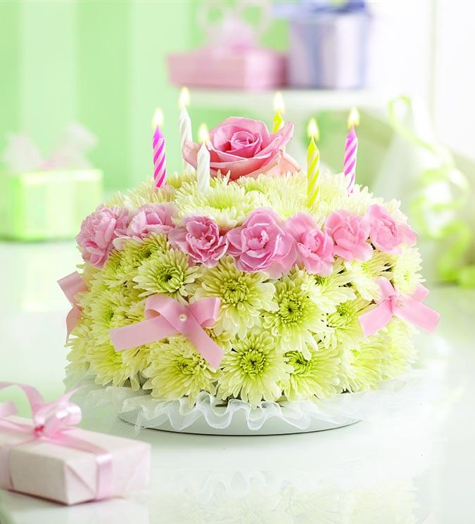 Birthday Wishes Flower Cake Pastel: 60 Mouth-Watering & Stunning Happy Birthday Cakes For You