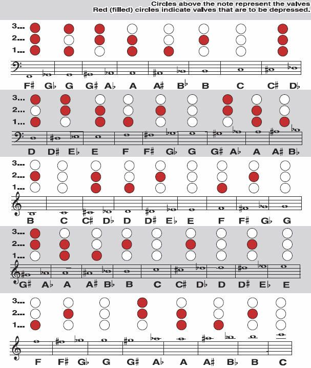 Trumpet Fingering ChartIn case you didnt know – Trumpet Fingering Chart