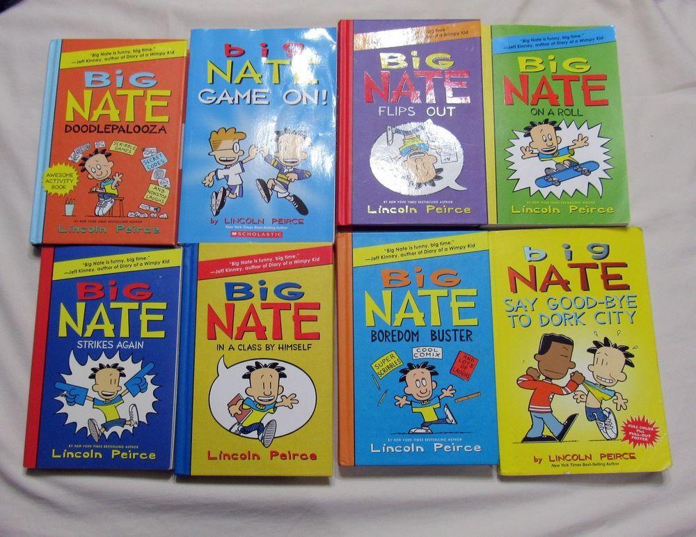 Big nate lot of 8 books lincoln pierce hardback paperback