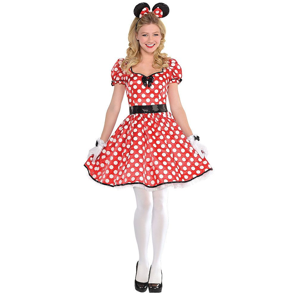 Disguise Disney Minnie Mouse Mickey Adult Womens Classic Halloween Costume 58791