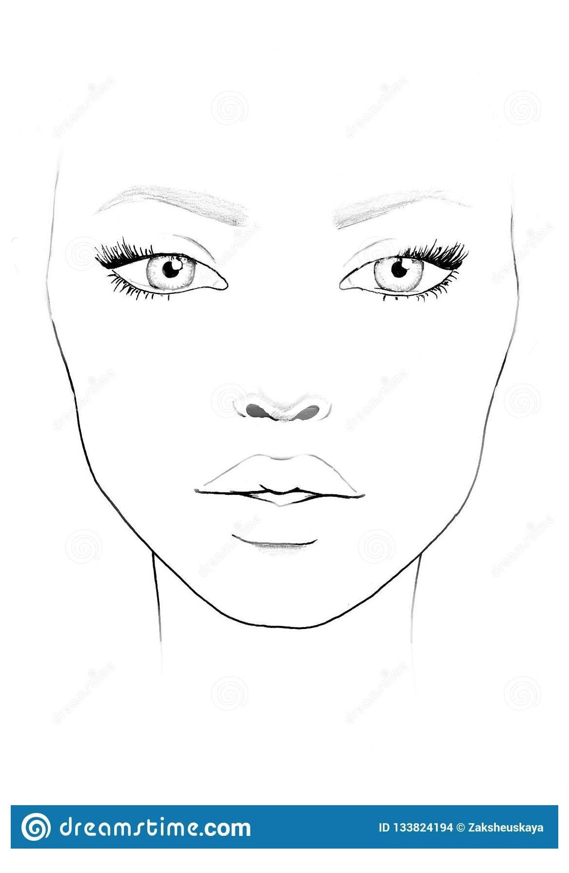 Blank Face Chart To Print Face Chart Makeup Artist Blank Makeup Face Charts Blank Face Chart To Print Face Chart Makeup Face Charts Face Chart Face Template