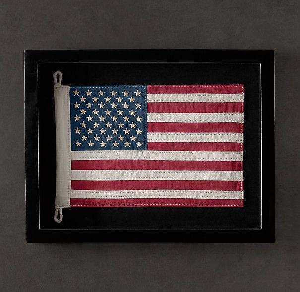 Framed Flag Of United States Restoration Hardware Framed Flag Framed American Flag Flag Display
