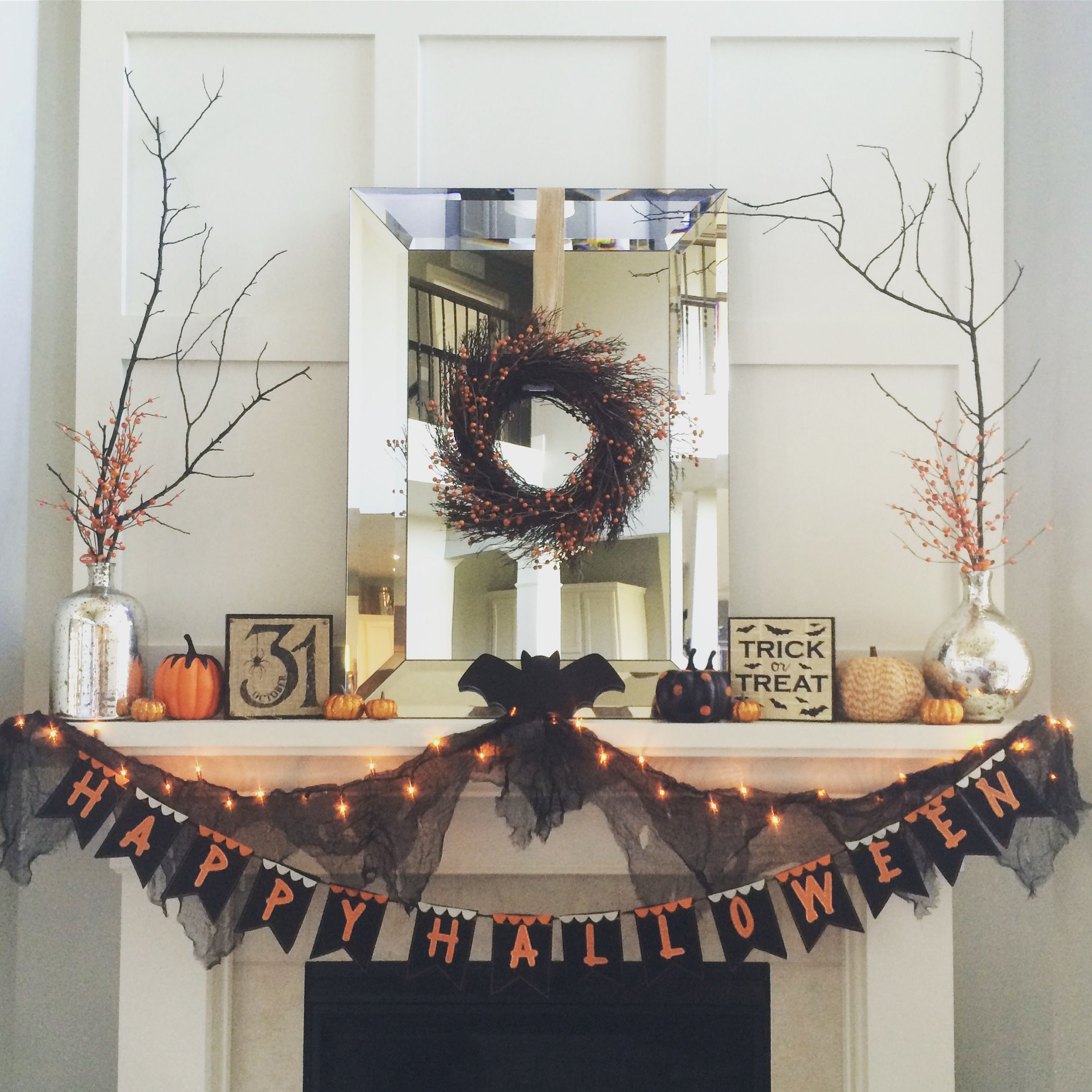 Classy Halloween Decorations: Halloween Mantel Halloween Decor Target Dollar Spot