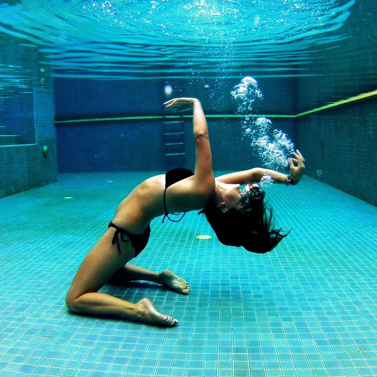 Dancing Underwater Yoga Water Gopro