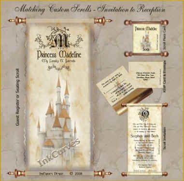 Princess madeline guest register scroll invitation and place card princess madeline guest register scroll invitation and place card filmwisefo Gallery