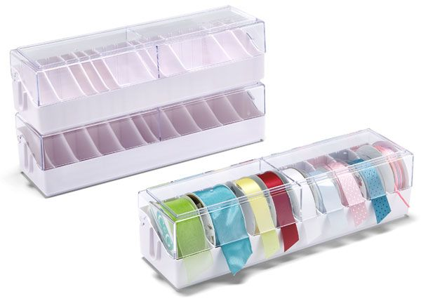Stacking Ribbon Dispenser Box 10 Each At The Container Store
