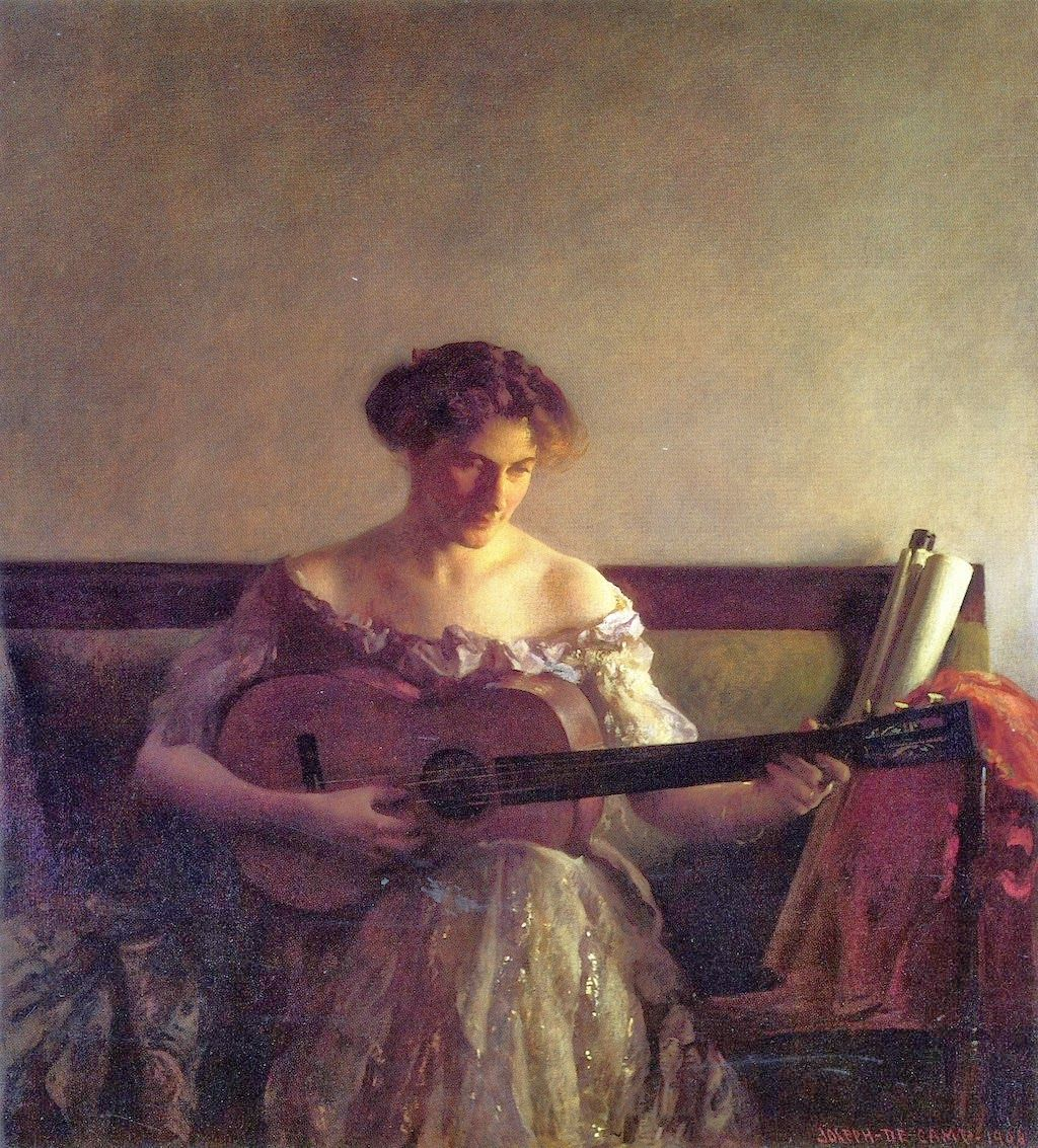 Joseph Rodefer DeCamp (American, 1858-1923). The Guitar Player, 1908. Museum of Fine Arts, Boston, US
