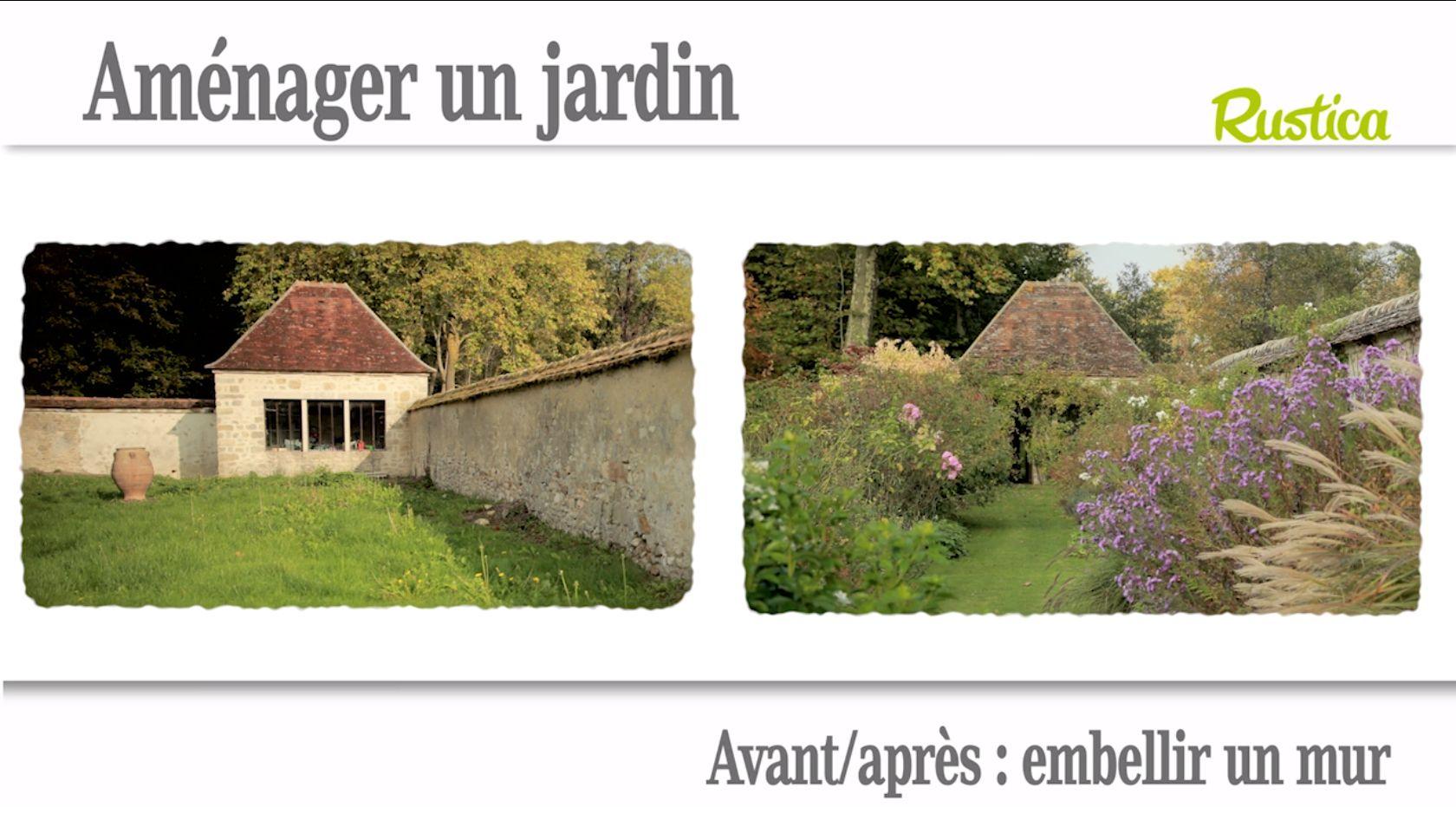 Aménagement de jardin le décor d'un mur Amenagement