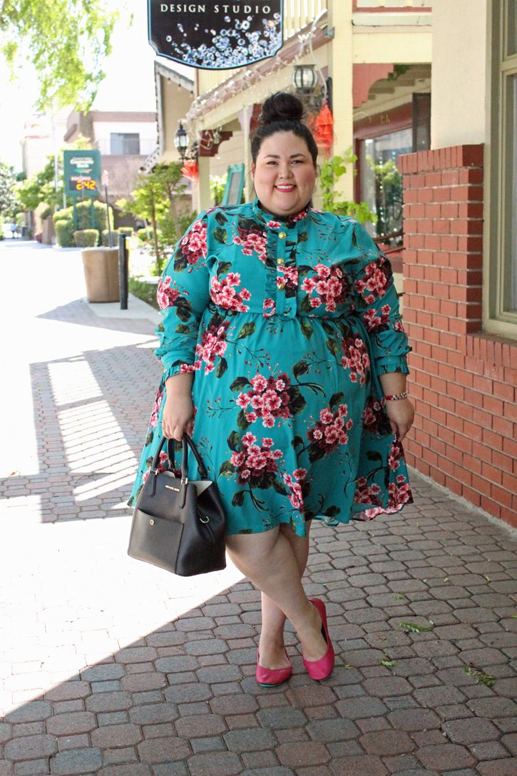 227386afc931 Eloquii floral ruffle fit and flare plus size dress review