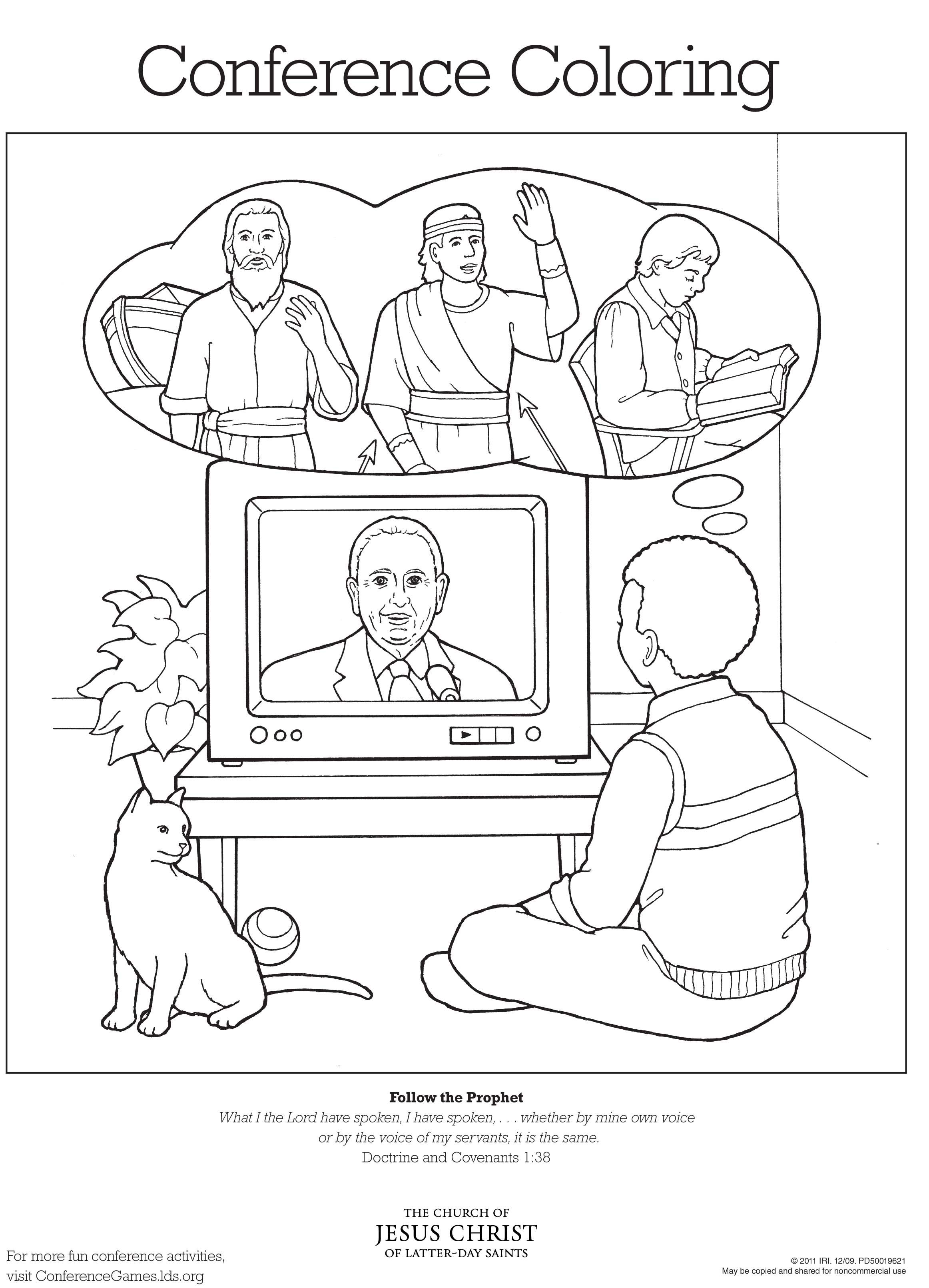 Conference Coloring Page 1