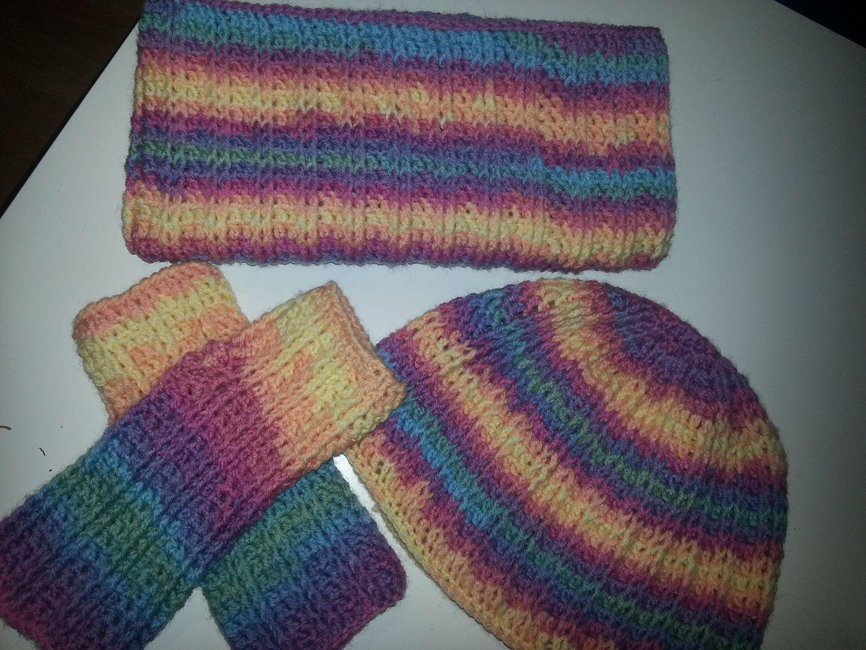 Set aus Wolle Samba Vizell Muster *2Stb, 2vRStb* | Crochet wearables ...