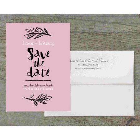 Woodside Script Deluxe Save The Date, Red