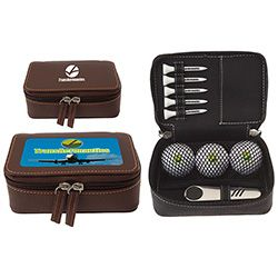 Zippered Golf Gift Kit - DT Solo. For details on how to order this item with your logo branded on it contact ww.fivetwentyfour.ca   #promoitems  #promoproducts   #golfpromo