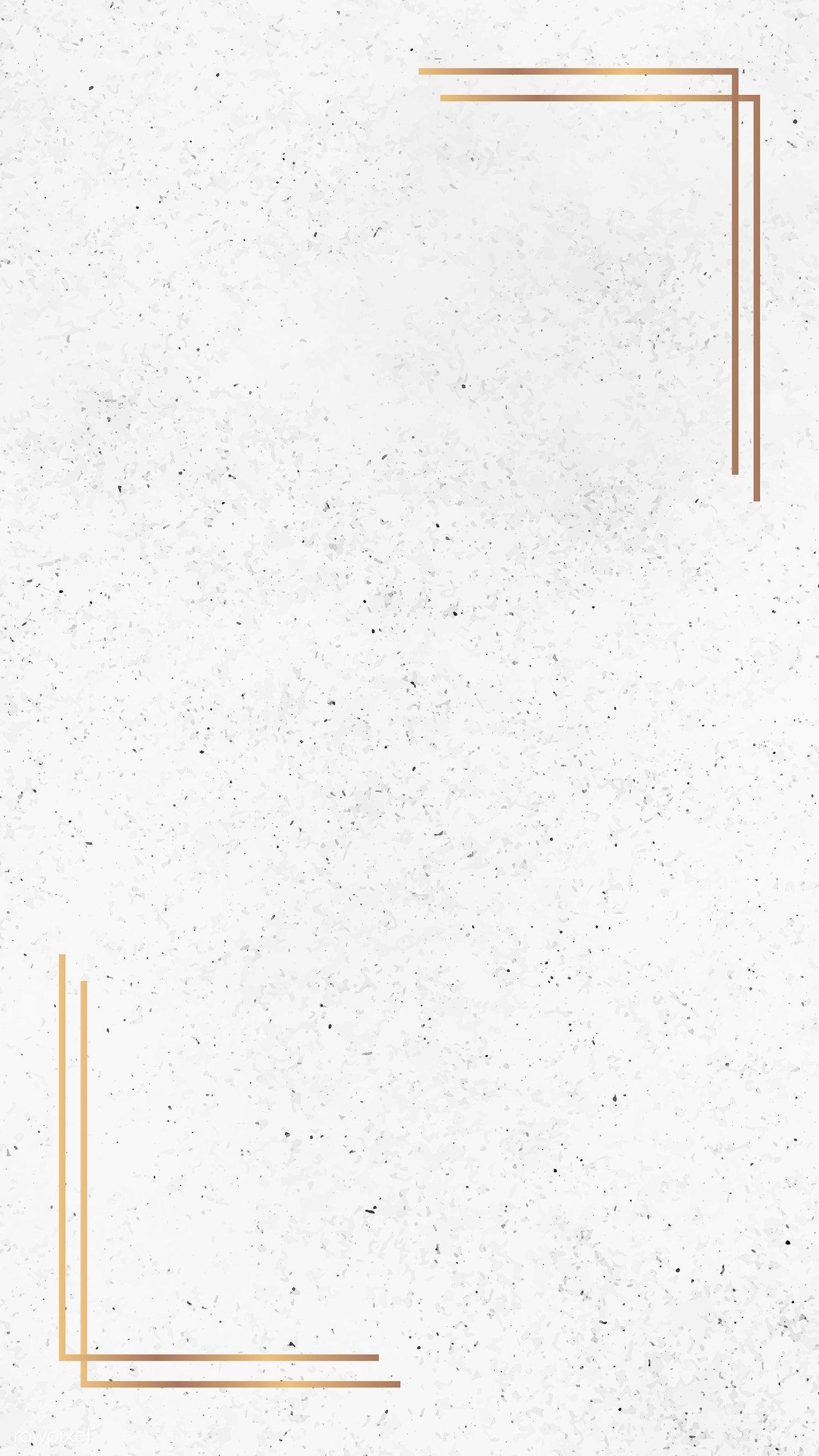 Download premium illustration of Gold frame on white