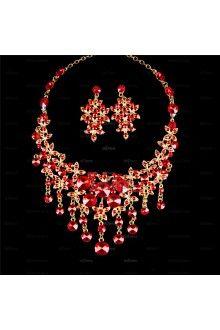 Elegant Alloy With Rhinestone Ladies' Jewelry Sets IZIPJ1869