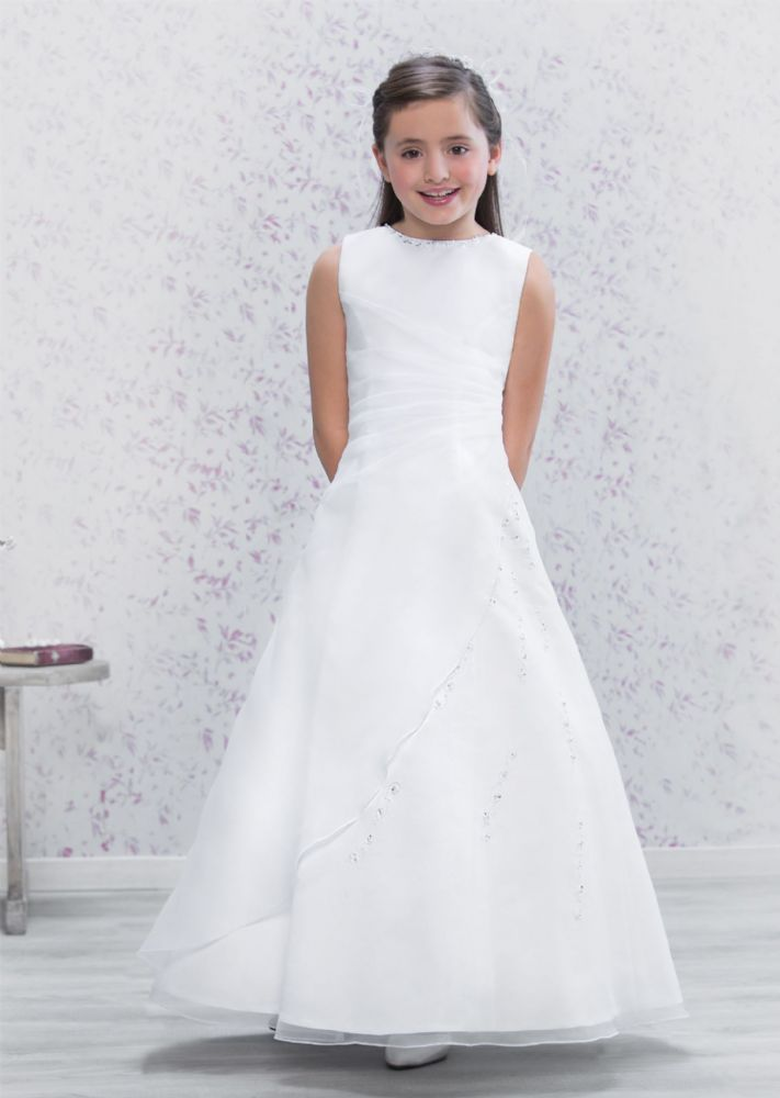 A Line First Communion Dress - 70179 - NEW 2016 - Beautiful Full Length  Communion Dress - Age 8 28d2e0cd847