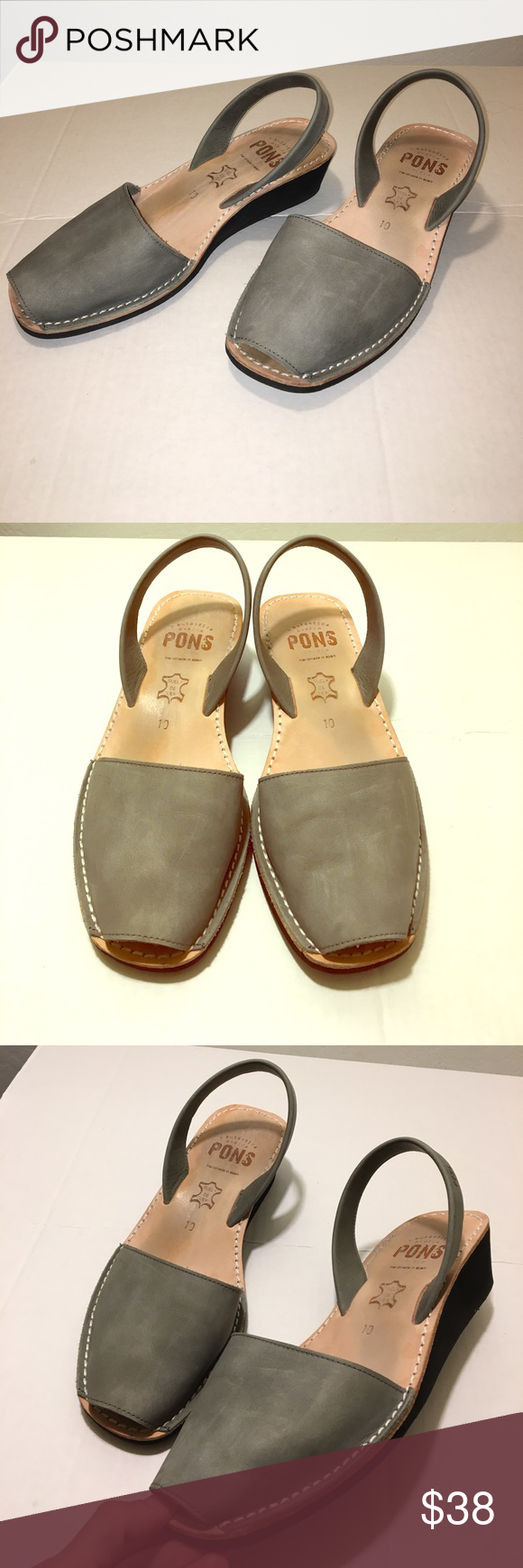 ba08eb1fd8ae Pons Avarcas Wedge in Grey Size 10 Pons Avarcas wedge in Grey. These  sandals are amazing! Here is some info from their website