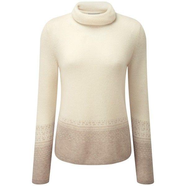 Pure Collection Aimee Fairisle Cashmere Jumper, Natural White ...