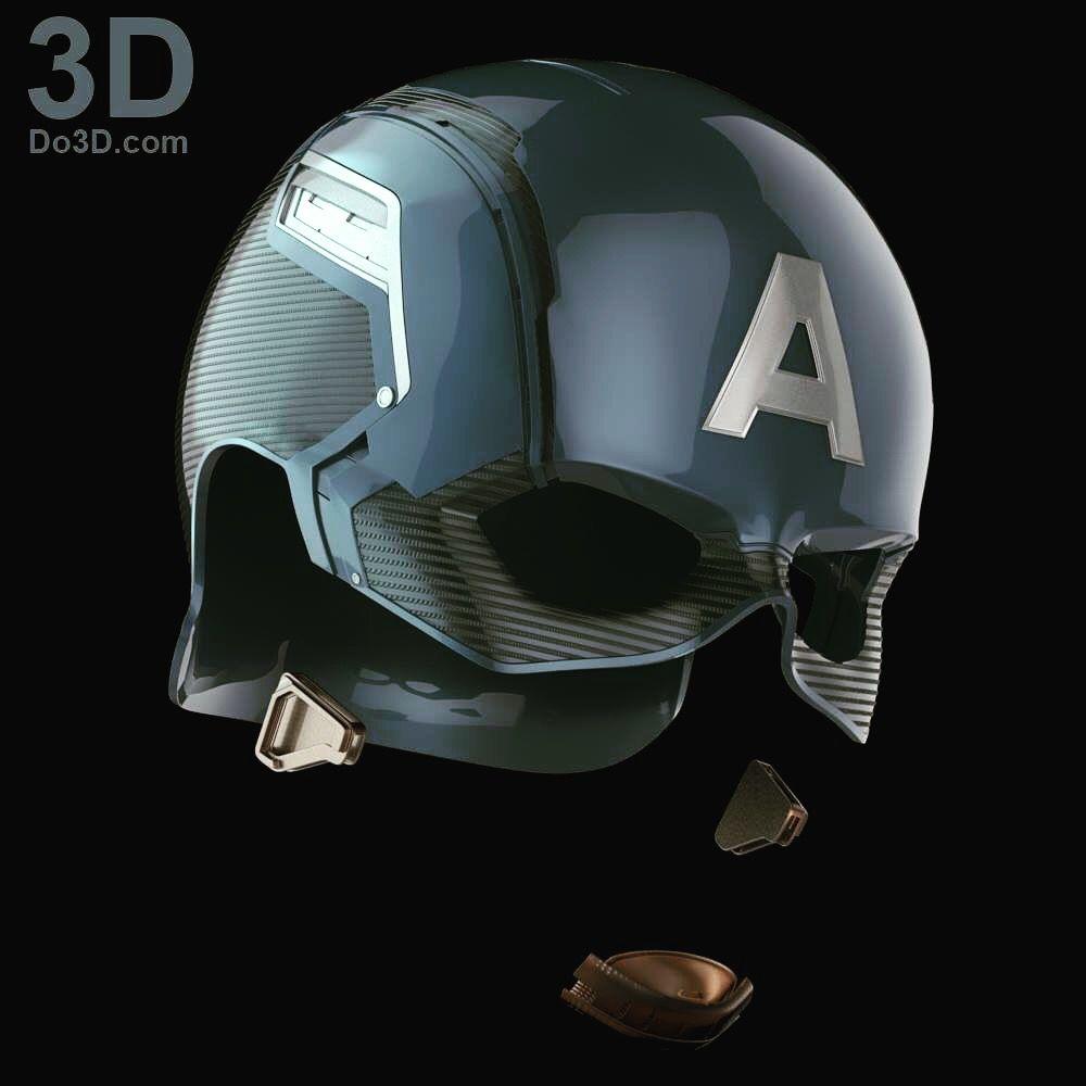 3d printable model captain america civil war helmet v2 0. Black Bedroom Furniture Sets. Home Design Ideas