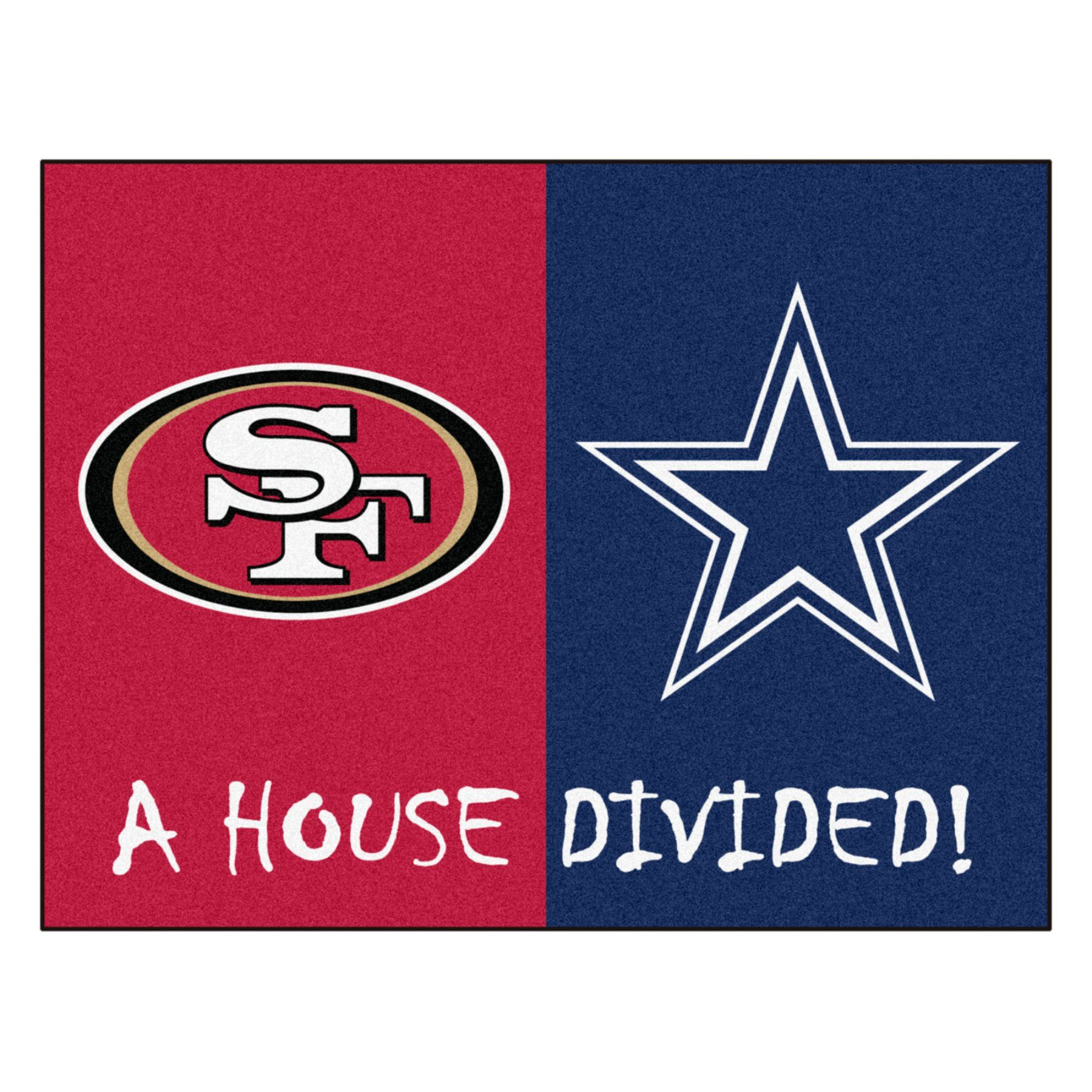 Fan Mats NFL Football House Divided Indoor Rug - 21677