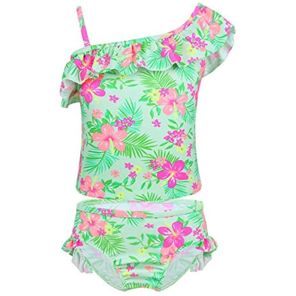 new arrival ae278 b2927 YiZYiF Mädchen Tankini Bikini Badeanzug Blumen Muster Top ...