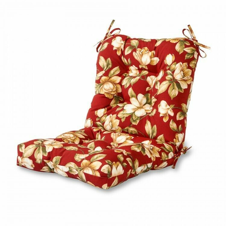 Floral Outdoor Chair Cushion Patio Garden Polyester Fabric Seat Back Seats P Outdoor Chair Cushions Outdoor Dining Chair Cushions Outdoor Lounge Chair Cushions