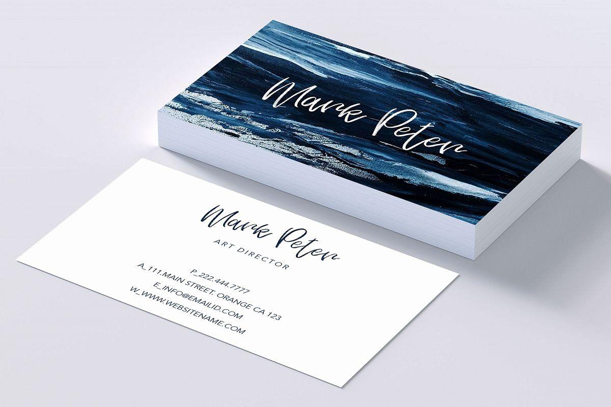 Artist business card examples beautiful art canvas effects